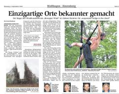 German Newspaper for Bewegter wind