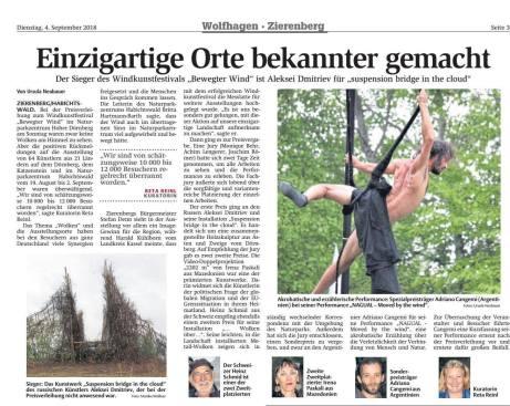 German Newspaper for Bewegter wind