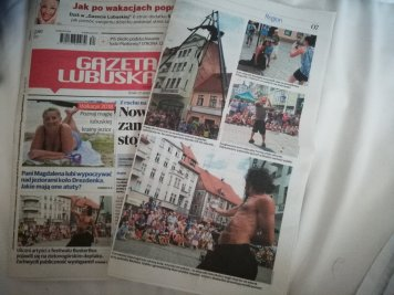 Poland News papers for BuskerBus Festival